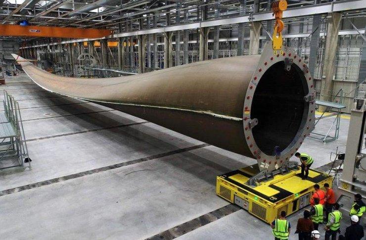 La plus grande pale d'éolienne au monde fabriquée à Cherbourg