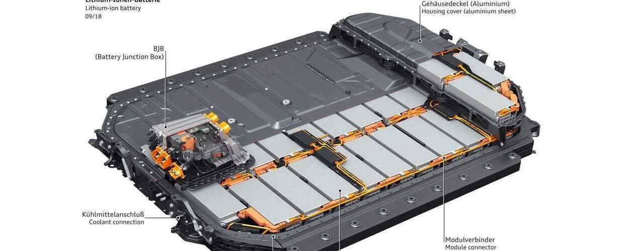 Le pack de batteries de l'Audi E-Tron