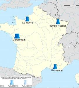 Centrales Charbon en France