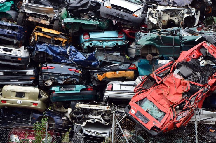 Epaves de voitures