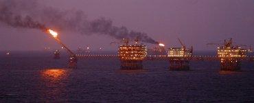 Méthane brulé lors de l'extraction de pétrole en mer de Chine