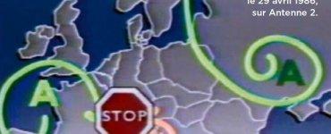 Capture écran bulletin météo 29 avril 1986 Tchernobyl