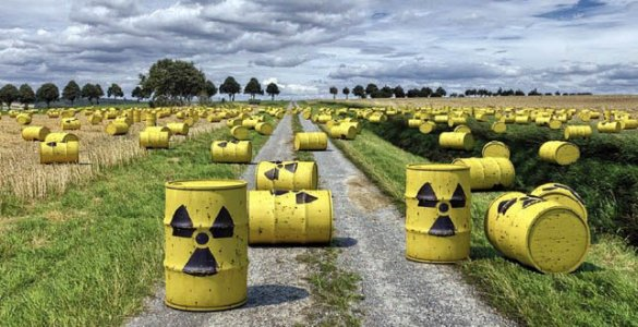 Bidons déchets nucléaires