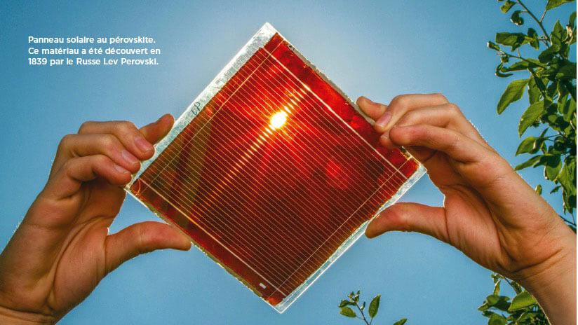 Panneau solaire au pérovskite