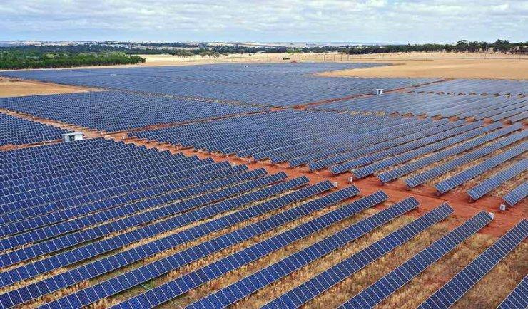 Ferme solaire en Australie