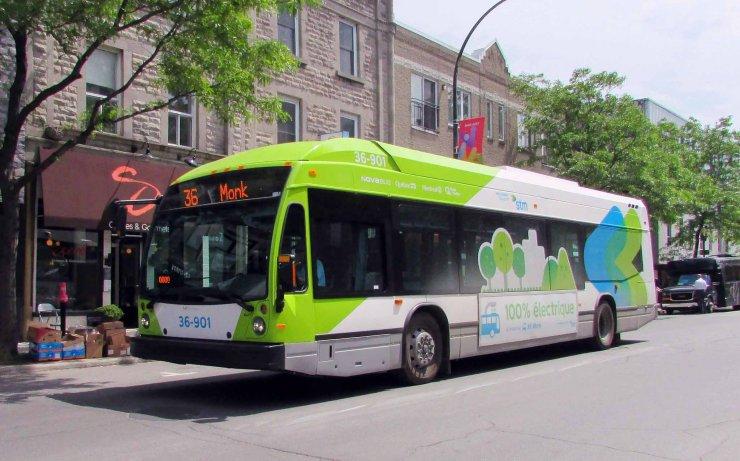 Bus électrique canadien Wikimedia Commons