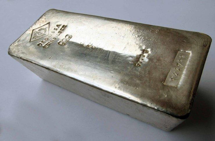 Bar d'argent métal wikimedia commons