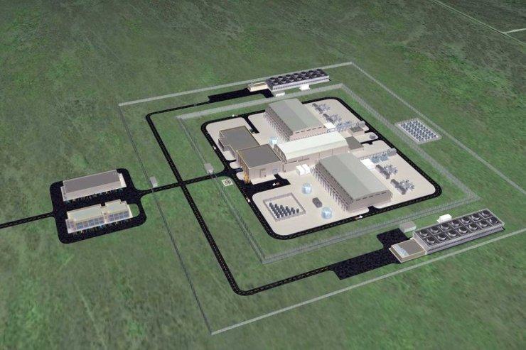 Dessin d'un réacteur NuScale