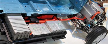 Les batteries lithium-ion d'une Nissan Leaf