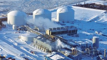 Usine de gaz liquéfié en Alaska ConocoPhilips