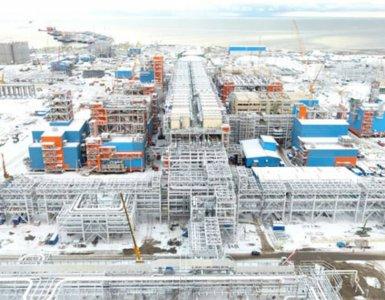 L'usine de liquefaction de gaz de Yamal